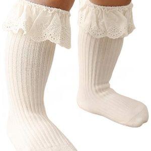 Knee high sock baby girl
